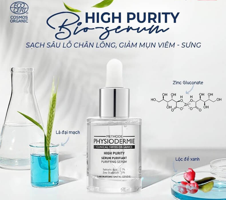 Serum se còi mụn sinh học-Methode Physiodermie High Purity Bio-serum