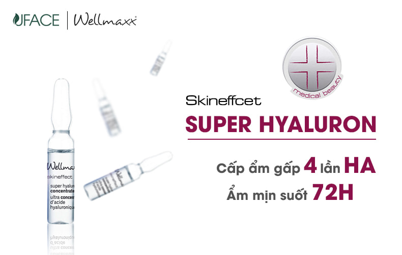Huyết thanh dưỡng ẩm-Wellmaxx Skineffect Super Hyaluron Concentrate